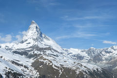 Mountain Matterhorn, Zermatt, Switzerland Royalty Free Stock Photography