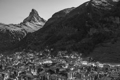 Mountain Matterhorn in Swiss Stock Image