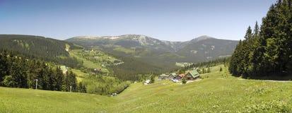 Mountain meadow above Pec pod Snezkou Stock Images