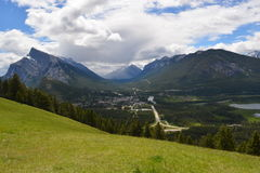 Mountain Meadow View of Banff. Beautiful mountain meadow view of Banff, Alberta, Canada Stock Photography