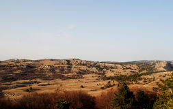 Mountain meadows. At the top of Ai-Petri Stock Photos