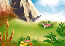 Mountain medow royalty free illustration