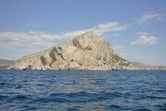 Mountain Megan. Beautiful Megan Hill, near the town of Sudak. At the foot of the beautiful bay of Crimea Royalty Free Stock Photos