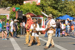 Mountain men performers in the Stock Images