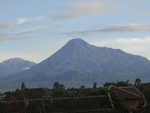 Mountain Merapi And Cloud Picture Royalty Free Stock Images