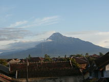 Mountain Merapi And Cloud Picture Royalty Free Stock Image