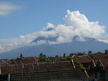 Mountain Merapi And Cloud Picture Stock Image