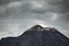 Mountain Merapi volcano, Java, Indonesia Royalty Free Stock Images