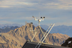 Mountain meteo station. Meteo station in the mountains in Austria Alps Stock Photo