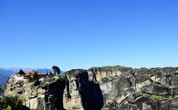 Mountain Meteora Wonder Of The World In Greece Monasteries On The Rocks Royalty Free Stock Photo