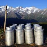 Mountain milk Royalty Free Stock Images