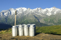 Mountain milk Royalty Free Stock Photo