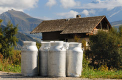 Mountain milk Stock Photography