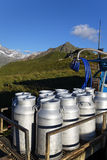 Mountain milk production Stock Image
