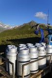 Mountain milk production Stock Image