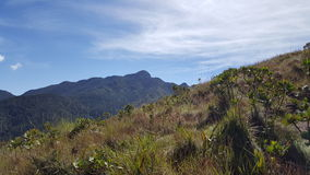 Mountain minas gerais. Trekking crossing the top of the mountains Royalty Free Stock Photos