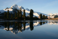 Mountain Mirror. A reflection of Garibaldi mountain stock image