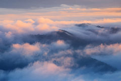 Mountain and mist in morning Stock Image