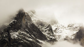 Mountain in the mist Royalty Free Stock Image