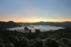Mountain mist of Thailand landscape Stock Photography