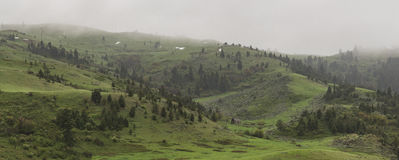 Mountain on a misty day Royalty Free Stock Images