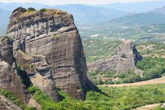 Mountain Monastery in Meteora, Greece Stock Images