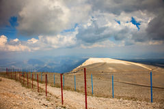 Mountain mont Ventoux cloudy daytime Stock Photography