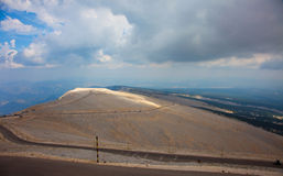 Mountain mont Ventoux cloudy daytime Stock Image