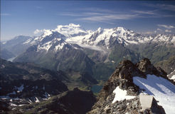 Mountain Montfort Switserland Panorama Stock Photography