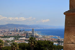 Mountain Montjuic in Barcelona, Spain stock photography