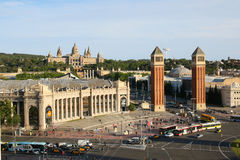 Mountain Montjuic in Barcelona, Spain royalty free stock image