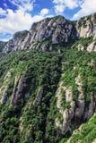 The Mountain of Montserrat Catalonia, Spain. Montserrat mountains and Benedictine monastery of Santa Maria de Montserrat. Stock Photography