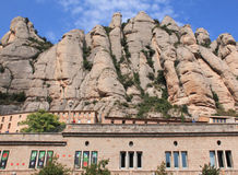 The mountain Montserrat. The monastery on the mountain of Montserrat stock images