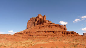Mountain in Monument valley. Old orange mountain in Monument Valley Royalty Free Stock Photos