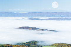 Mountain and Moon Royalty Free Stock Images