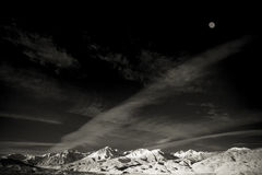 Mountain and Moon Royalty Free Stock Image