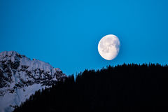 Mountain Moon stock images