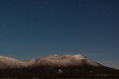 Mountain in the moonlight royalty free stock photos
