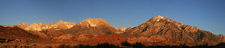 Mountain morning panorama Royalty Free Stock Images