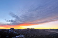 Mountain morning panorama Royalty Free Stock Photography