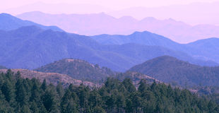 Mountain After Mountain Royalty Free Stock Photography