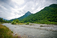 Mountain & mountain river Royalty Free Stock Images