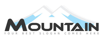 Mountain / Mountains Logo Concept Stock Photography