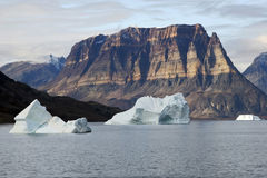 Mountain in National Park, Greenland N/Ø. Royalty Free Stock Photography