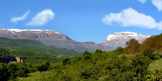 Mountain. Nature on the background of blue sky steppes and mountains Royalty Free Stock Photos