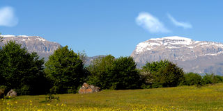 Mountain. Nature on the background of blue sky steppes and mountains Stock Photo