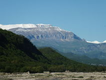 Mountain. The nature of the Caucasus mountains, rivers and forests Stock Images