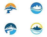 Mountain nature landscape  logo and symbols  icons template. Mountain nature landscape  logo and symbols  icons template Royalty Free Stock Photography