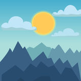 Mountain nature landscape vector illustration. Royalty Free Stock Image