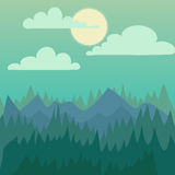 Mountain nature landscape vector illustration. Royalty Free Stock Photography